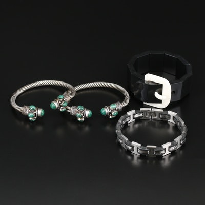 Collection of Bracelets Featuring Marc Jacobs Belt Buckle Bracelet