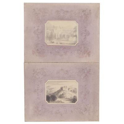 British Landscape Ink Drawings, Early to Mid-19th Century