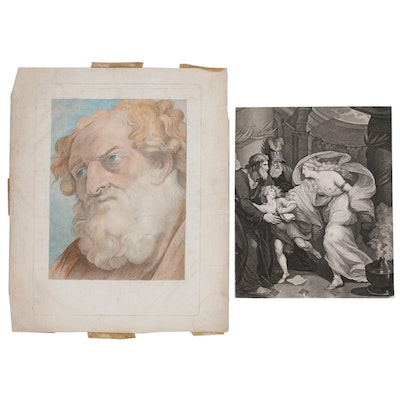 Intaglio Prints Including Thomas Kirk Stipple Engraving, Early/Mid-19th Century
