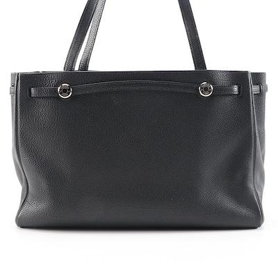 Hermès Kabana Tote in Black Veau Grain Lisse Leather