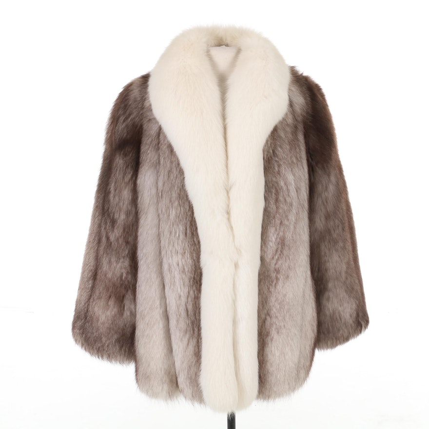 Platinum and Arctic Fox Fur Coat by The Fur Centre