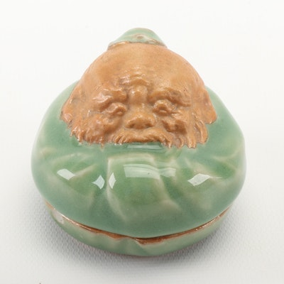 East Asian Celadon Ceramic Trinket Box