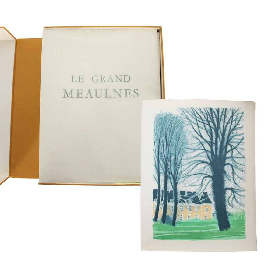 "André Brasilier Illustrated Art Book Edition of ""Le Grand Meaulnes"", 1972"