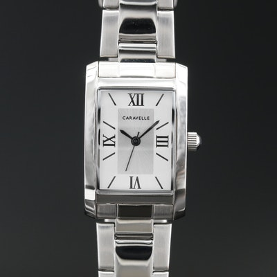 """Caravelle"" By Bulova Classic Stainless Steel Quartz Wristwatch"