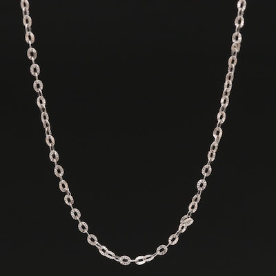 18K Textured Cable Chain Necklace