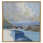 Paul G. Stone Landscape Oil Painting, 21st Century