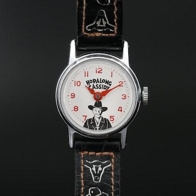 Vintage Hopalong Cassidy Stem Wind Wristwatch, Circa 1950