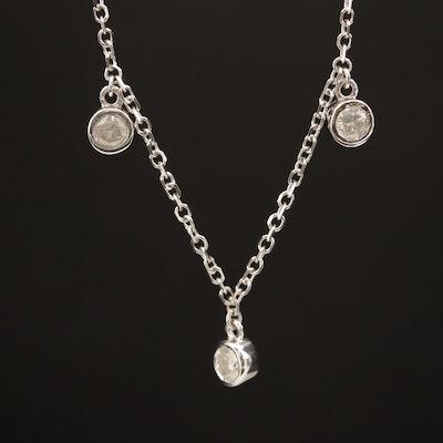 14K 1.15 CTW Diamond Station Necklace