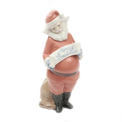 "Nao by Lladró ""Santa's Best Wishes"" Porcelain Figurine"