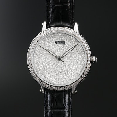 Ecclissi Glass Crystal and Stainless Steel Quartz Wristwatch