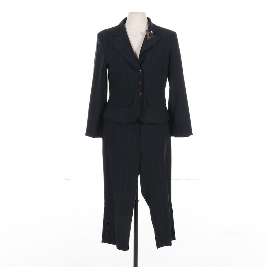 Le Joupe Roma Pantsuit with Sterling Silver Brooch