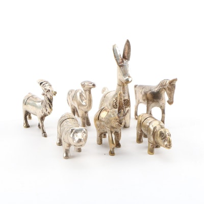 Silver Plate Figural Animal Place Card Holders