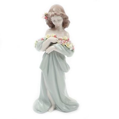 """Lladró """"Petals of Love"""" Porcelain Figurine Designed by Antonio Ramos"""