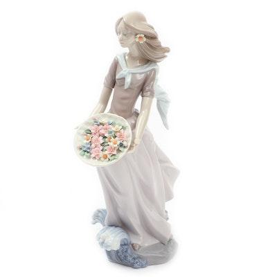 """Lladró """"Ocean Offering"""" Porcelain Figurine Designed by Joan Coderch"""