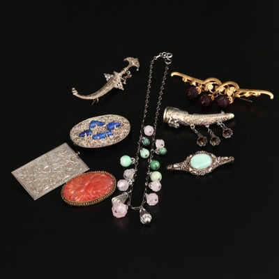 Vintage Jewelry Assortment Including Sterling and 800 Silver
