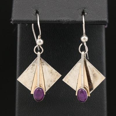 Sterling Amethyst Dangle Earrings