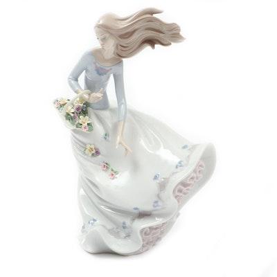 "Lladró ""Petals on the Wind"" Porcelain Figurine Designed by Joan Coderch"
