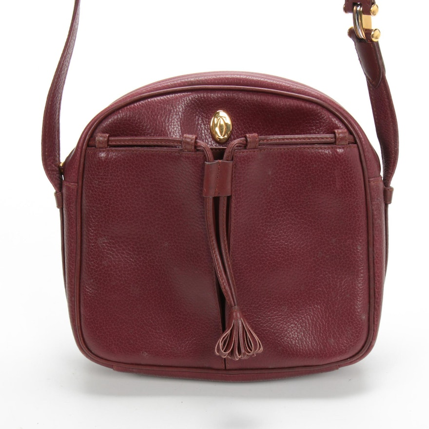 Cartier Must de Cartier Bordeaux Grained Leather Crossbody Bag