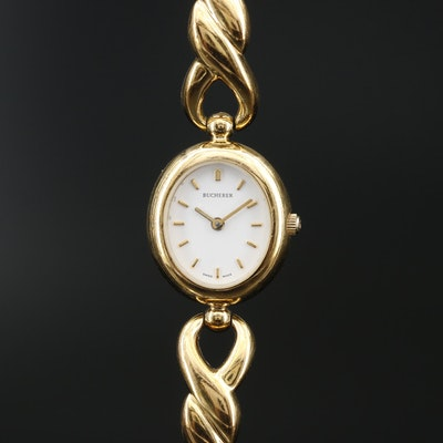 Bucherer Gold Tone Quartz Wristwatch