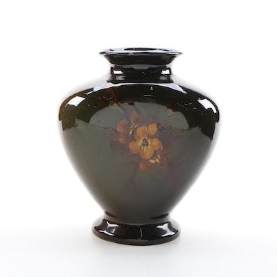 Weller Dickens Ware Style Pansy Motif Vase