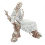 Lladró Porcelain Figurine of Woman on Flowering Branch, 2002