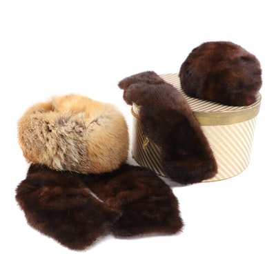 Mink and Red Fox Fur Hats and Collars Including Howard Albert