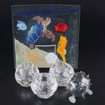 William McGrath Fusion Art Glass Plate and other Glass Decorative Accents