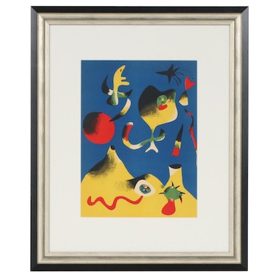 "Joan Miró Color Lithograph ""L'Air"" for ""Verve"", 1937"