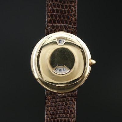 18K Chaumet Jump Hour Wristwatch