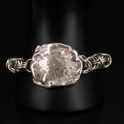 Sterling Silver Byzantine Chain Link Bracelet
