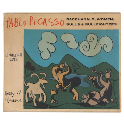 "Case and Text Book from Picasso's ""Bacchanals, Women, Bulls, & Bullfighters"""