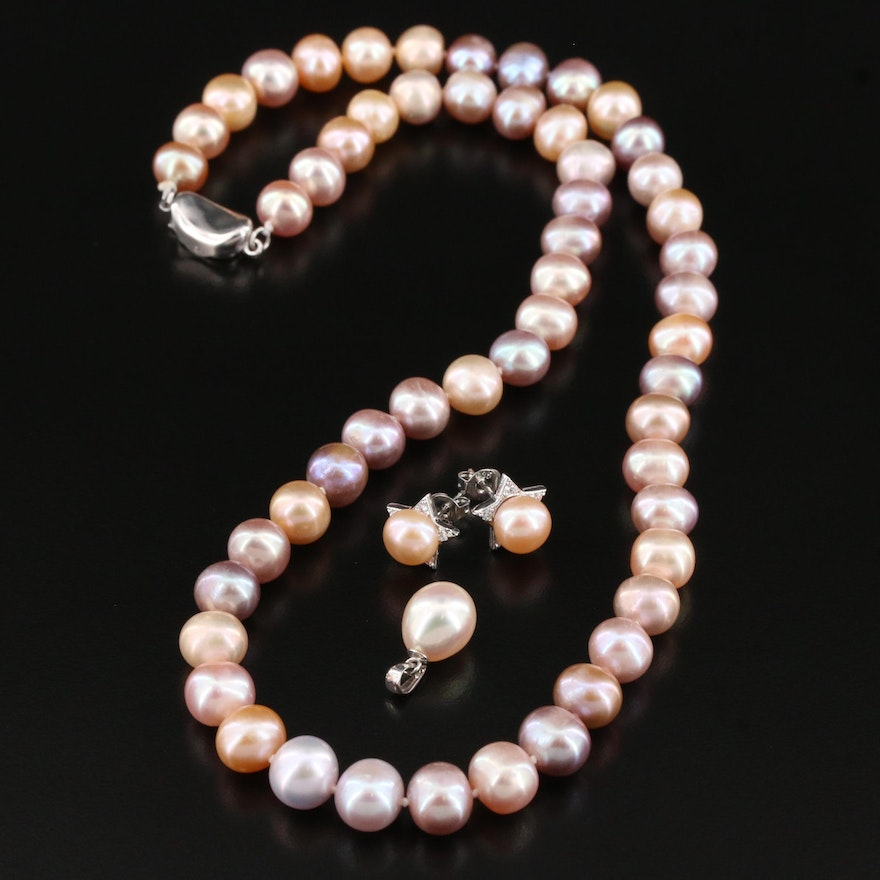 Sterling Silver Pearl Jewelry Selection