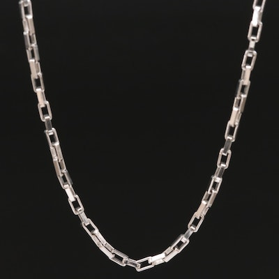 Sterling Box Link Chain Necklace