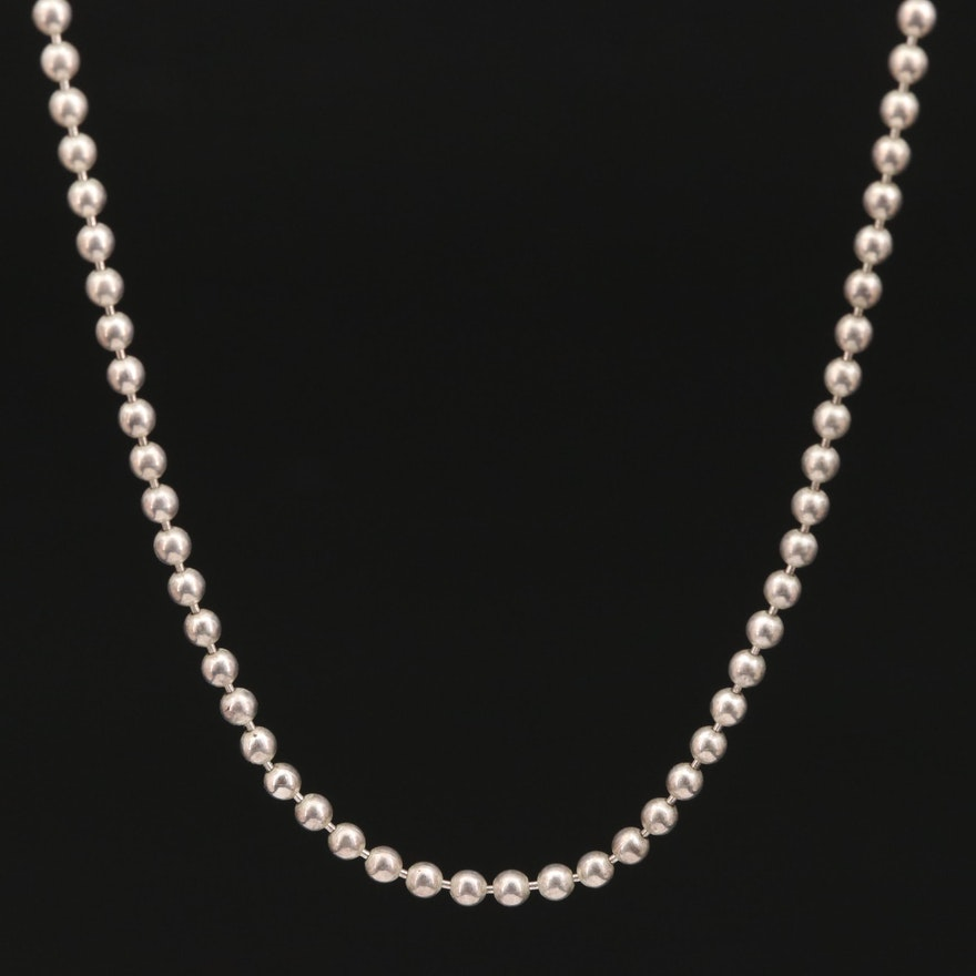 Sterling Silver Bead Chain Necklace