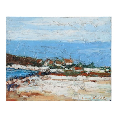 Serguei Novitchkov Abstract Coastal Landscape Oil Painting
