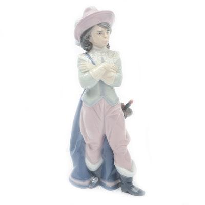 """Lladró Porcelain """"Musketeer Porthos"""" Figurine Designed by Juan Huerta"""