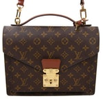 Louis Vuitton Monceau 28 Crossbody Bag in Monogram Canvas and Leather