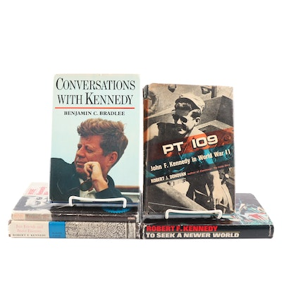 "JFK and Robert F. Kennedy Books Featuring Signed ""Conversations with Kennedy"""