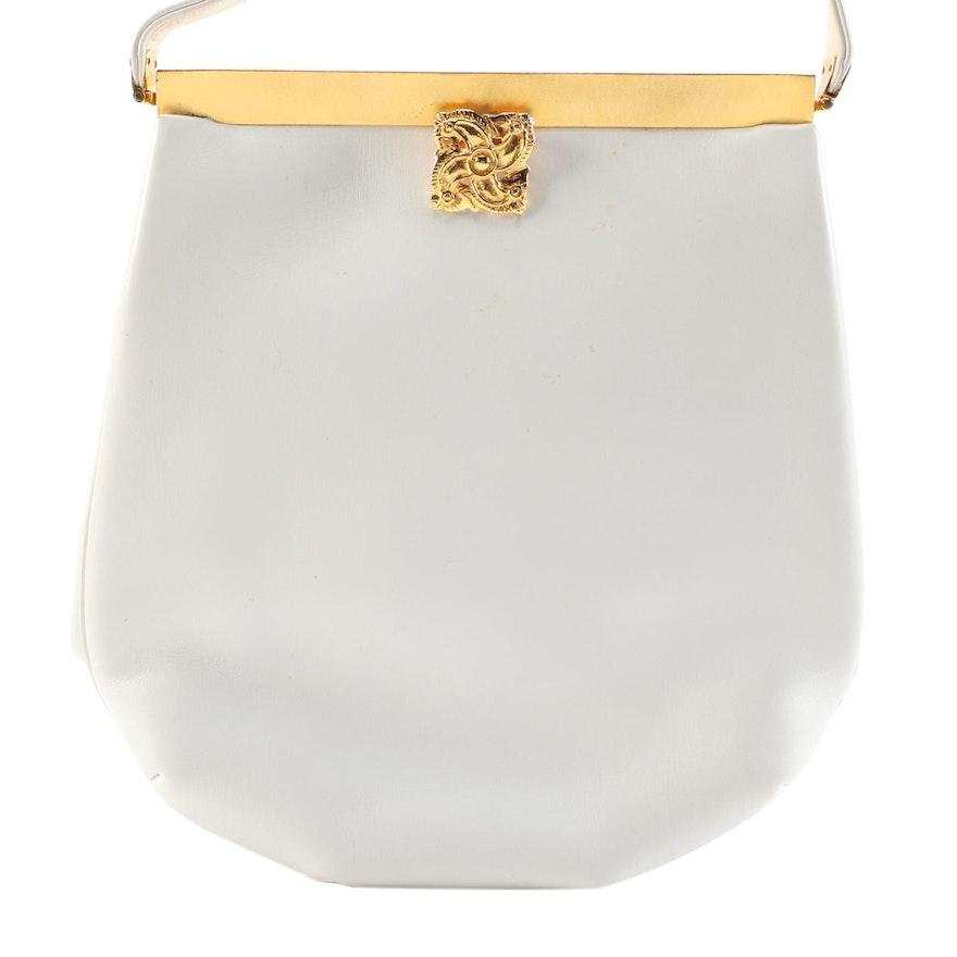 Judith Leiber White Leather Shoulder Bag