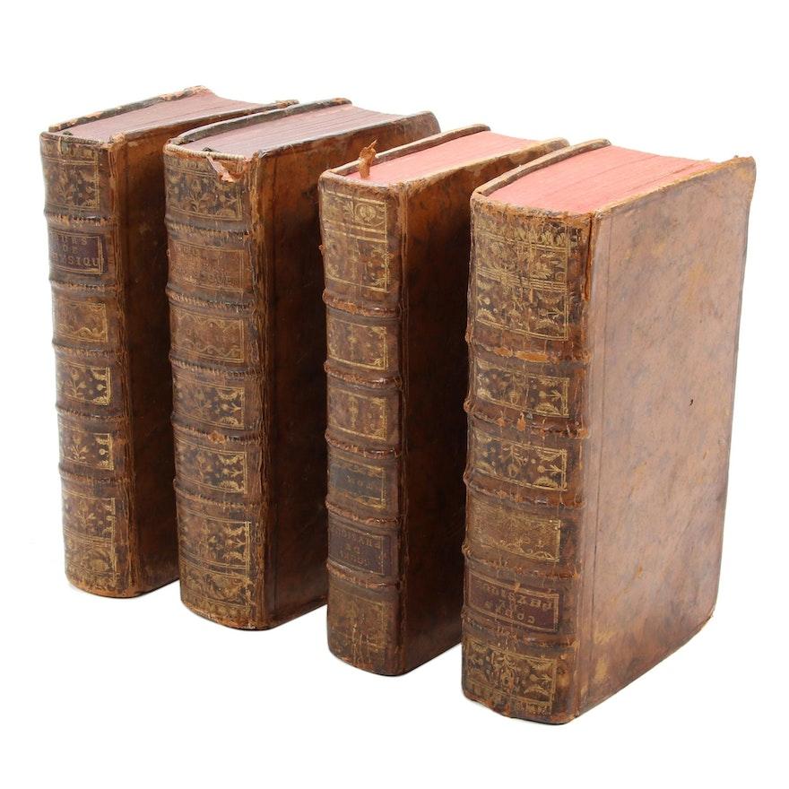 """""""Cours de physique"""" by Jean Sauri Four-Volume Set, 1777"""