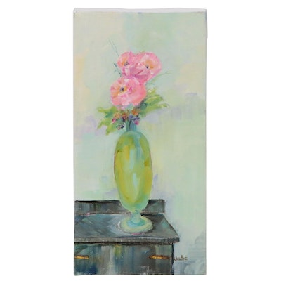 Judie Mulkey Floral Still Life Oil Painting