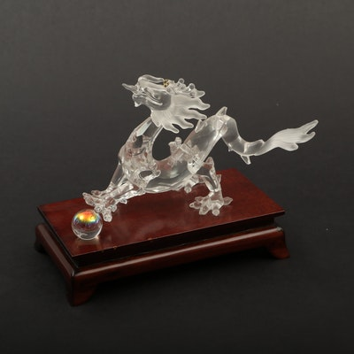 "Swarovski Crystal ""Zodiac Dragon"" Figurine on Base"