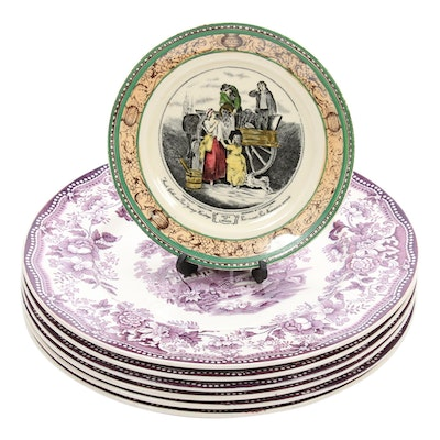"Royal Staffordshire ""Tonquin"" Dinner Plates and Adams Side Plate"