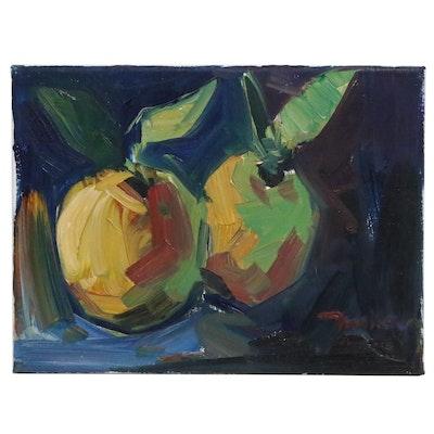 "Jose Trujillo Oil Painting ""Fresh Lemons"", 2020"