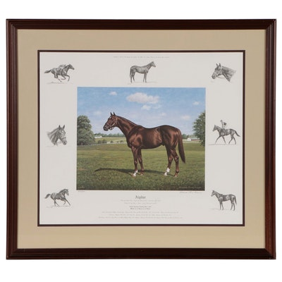 "Richard Stone Reeves Equine Offset Lithograph ""Alydar"""