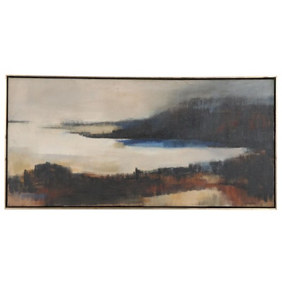 "Elizabeth P. Welsh Oil Painting ""To the Sea"", Mid to Late 20th Century"