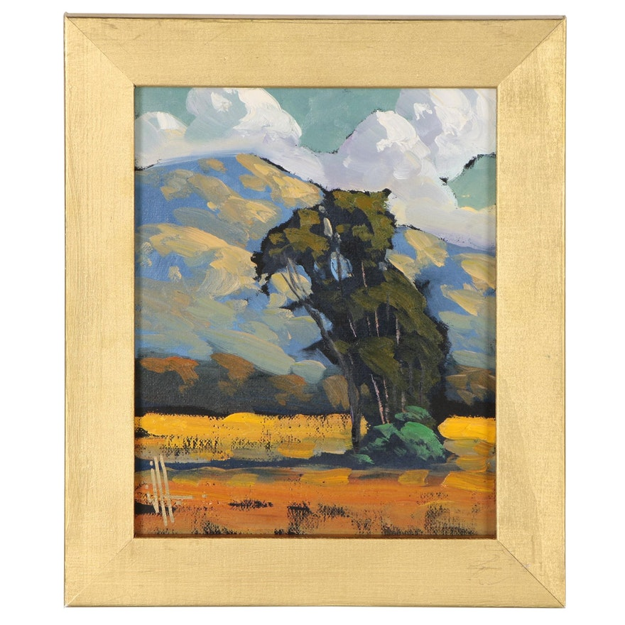William Hawkins Mountain Landscape Painting, 21st Century