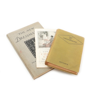 """Butterick and Singer Sewing Books Including """"The New Dressmaker"""""""
