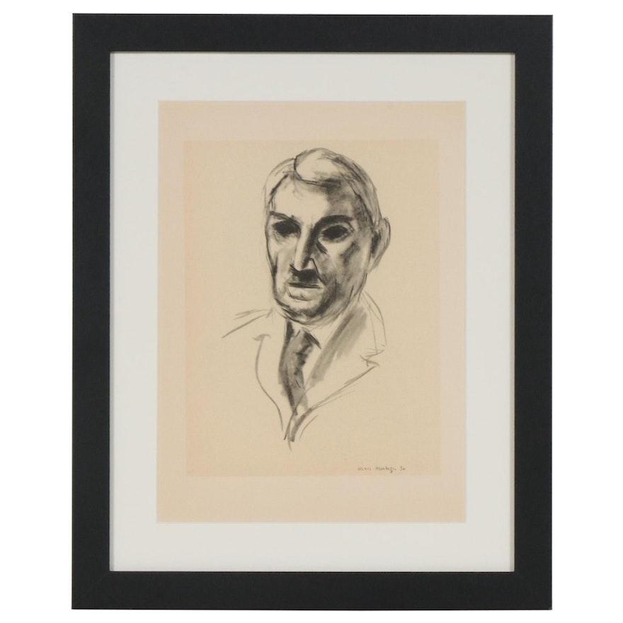 """Lithograph after Henri Matisse """"John Dewey"""", 1954"""