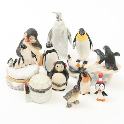 Penguin Themed Trinket Boxes and Figurines